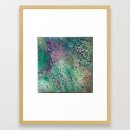 Acrylic pouring Framed Art Print