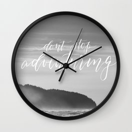 Don't Stop Adventuring Wall Clock