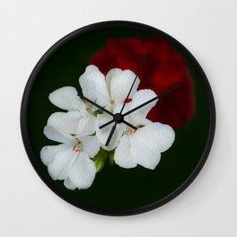 Geranium as art Wall Clock