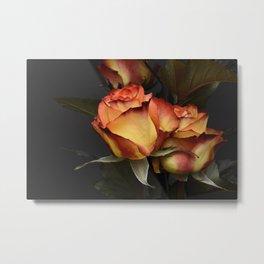 Red Yellow Roses Metal Print