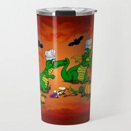 Today I will cook , Dragons - Happy Halloween ! Travel Mug