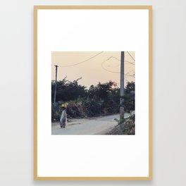 Village Life in Rajasthan, India Framed Art Print