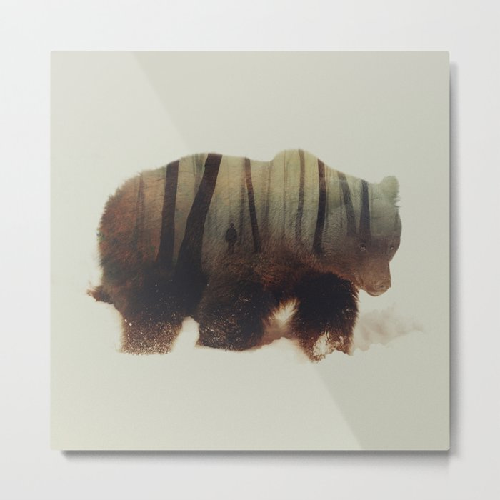 Watched By Grizzly Bear Metal Print