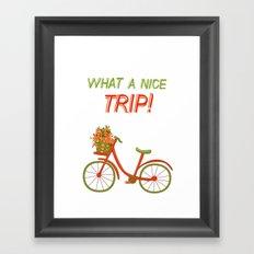 What a nice trip Framed Art Print