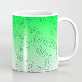 Scattered Music Notes (green) Coffee Mug