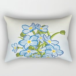 Bouquet of Blossoming Myosotis Flowers Rectangular Pillow