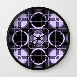 Dark and light Geometric Lavender Cirles Wall Clock