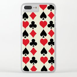 Playing Card Suits Print Clear iPhone Case