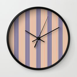 Minimal Abstract Apricot Purple SeaGreen 11 Wall Clock