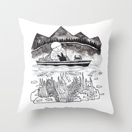 Moment of Flow Throw Pillow