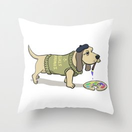 A Painting Dog Throw Pillow