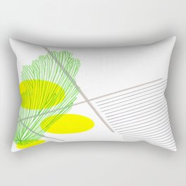Green, Canary Yellow, French Grey, and Black Abstract 2 Rectangular Pillow