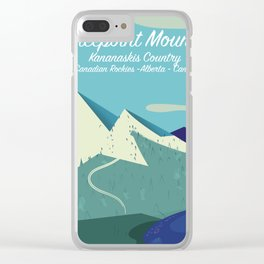 Threepoint Mountain Canada travel poster. Clear iPhone Case