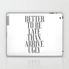 Printable Bathroom Art Better to Be Late Than To Arrive Ugly Bathroom Wall Decor Washroom Laptop & iPad Skin