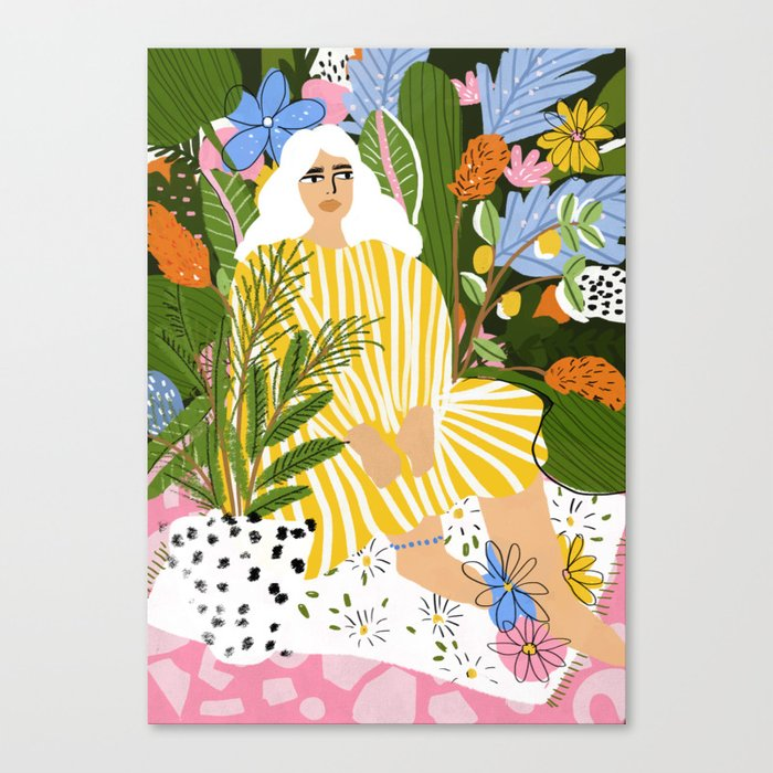 The Jungle Lady Canvas Print