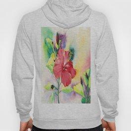 Red Hibiscus Hoody