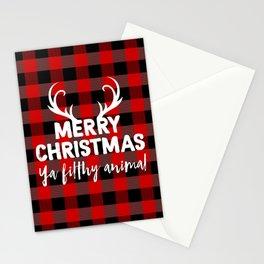 Ya filthy animal plaid Stationery Cards