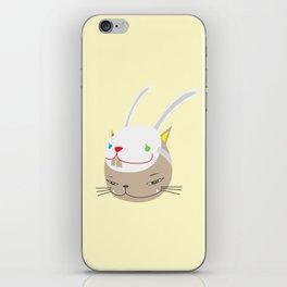 CAT WITH RABBITZ MASK iPhone Skin