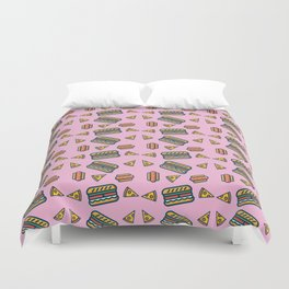 fast food pink Duvet Cover