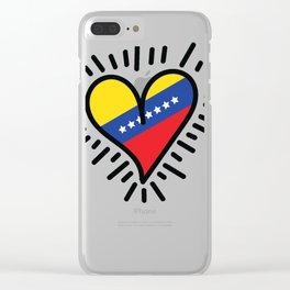 My Venezuelan heart Clear iPhone Case