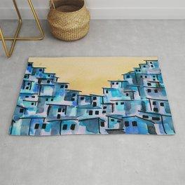 favela brazil city art  Rug