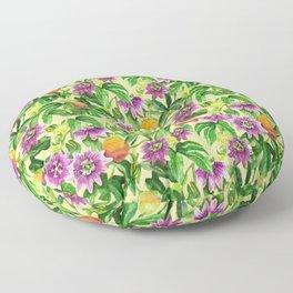 Passiflora vines Floor Pillow
