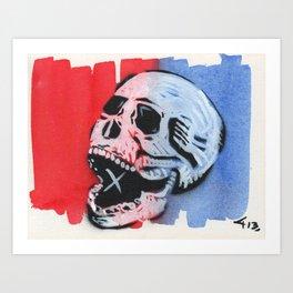 Gunga Skull 02 Art Print