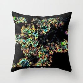Mismatch Color Hatch Throw Pillow