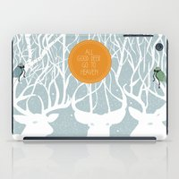 pixies iPad Cases featuring All Good Deer go to Heaven by Cocorrina