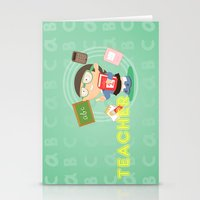 teacher Stationery Cards featuring teacher by Alapapaju