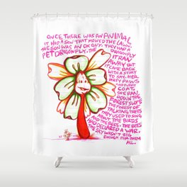 """Storyteller"" Flowerkid Shower Curtain"