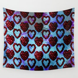 Gothic Rose Petal Hearts Wall Tapestry