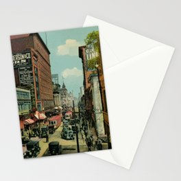 Montreal busy St. Catherine Street 1920s Stationery Cards