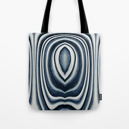 Earth Tone Blue Abstract Pattern Tote Bag
