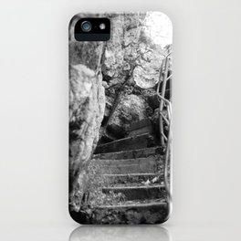 Tatzelwurm stairs black and white photography iPhone Case
