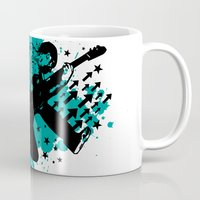 rock and roll Mugs featuring Rock & Roll by Chamber Decals