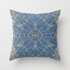 Snowflake Blue Throw Pillow