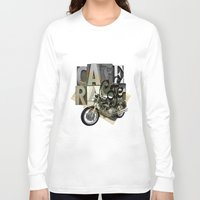 cafe racer Long Sleeve T-shirts featuring cafe racer by Liviu Antonescu