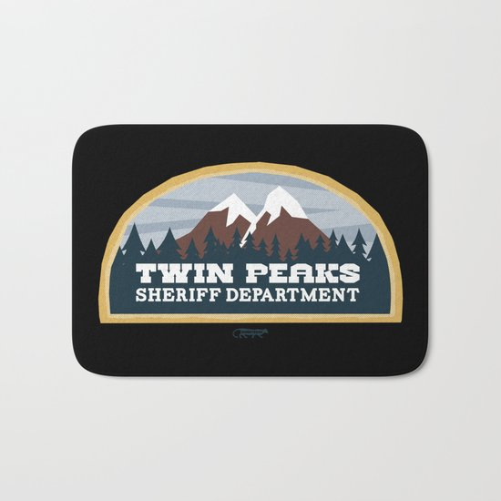 Twin Peaks Sheriff Department (Redux) Bath Mat