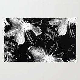 Black Flowers Rug