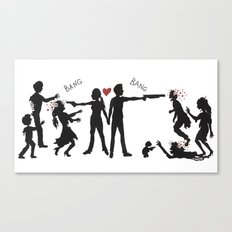 Zombie Hunting II Canvas Print