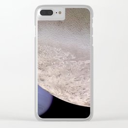 Neptune and Moon Clear iPhone Case