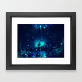 Up through the lily-pads Framed Art Print