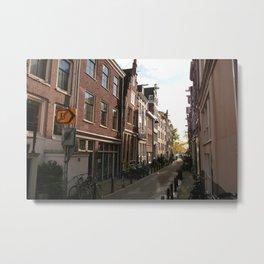 Side Streets of Amsterdam Metal Print