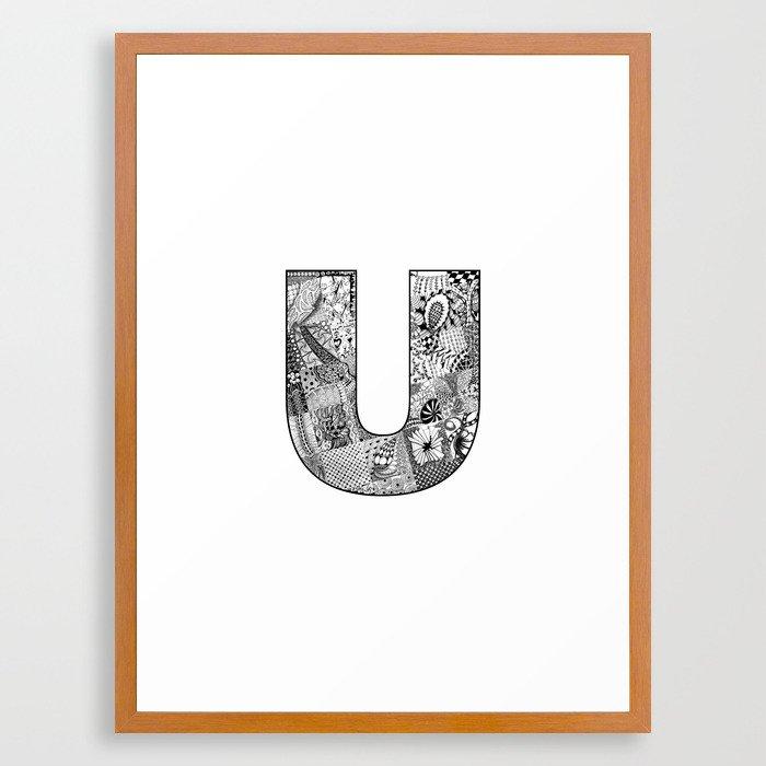 Cutout Letter U Framed Art Print