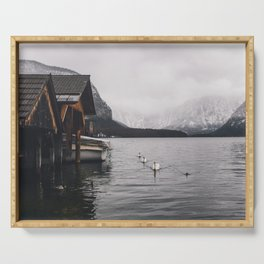 Lake and mountains Serving Tray
