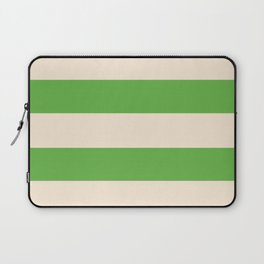 Antique White and Apple Green Stripes Laptop Sleeve