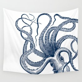 Octopus Navy Wall Tapestry