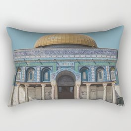 Dome of the Rock, Jerusalem Travel Artwork Rectangular Pillow