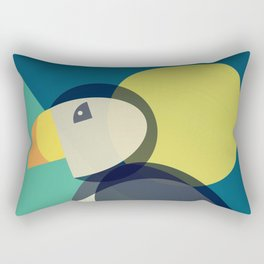 Mid Century Puffin Rectangular Pillow